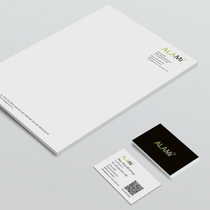 Briefpapier und Visitenkarten